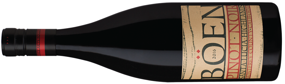 BÖEN SANTA LUCIA HIGHLANDS pinot noir bottle shot horizontal